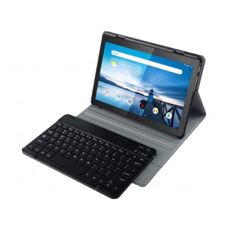 Just in case Premium Lenovo Tab E10 Book Case Black QWERTY 39484