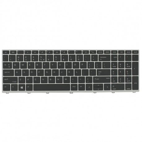 HP L09594-051 Keyboard Silver/Black AZERTY FR 6037B0134405