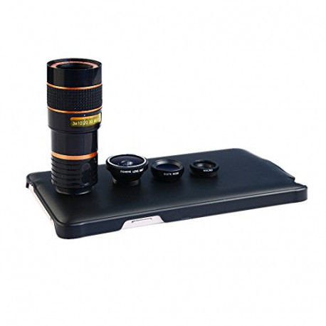 APEXEL Angle Macro Fisheye 8X Telephoto Lens Galaxy Note 4 Black CL-85U-N4-BK