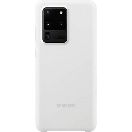 SAMSUNG S20 ultra Silicone Cover Wit EF-PG988TWEGEU