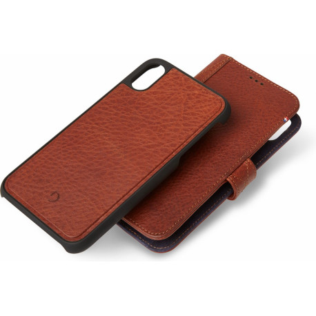 Decoded 2-IN-1 Leather Wallet iPhone XS Max Book Case Brown D8IPO65DW1CBN
