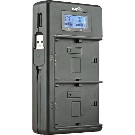 Jupio USB Dedicated Duo Charger LCD voor Nikon EN-EL15 (A) JDC20XX