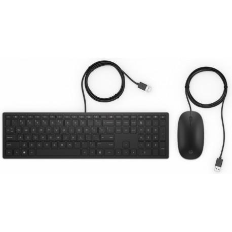 HP Pavilion 400 Wired Keyboard und Maus QWERTY Dutch 4CE97AA#ABH