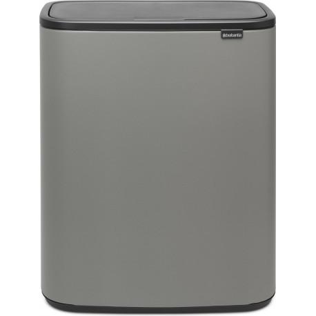 Brabantia Bo Touch afvalbak 60 Liter Mineral Concrete Grey 223129