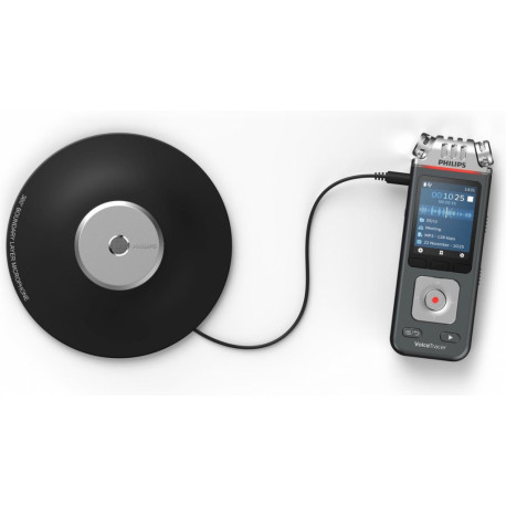 PHILIPS Voice Tracer 00 dictaphone Flashkaart Antraciet Chroom DVT8110