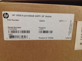 HP Switch 10500 4 Port 40GBE QSFFP + SF Modul JC757A