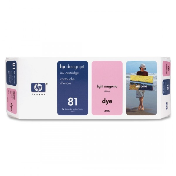 HP 81 Remanufactured Light Magenta Ink Cartridge C4935A