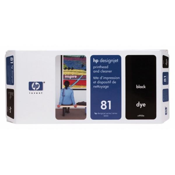 HP 81 Printkop en printkopreiniger voor de DesignJet 5000-serie zwart C4950A