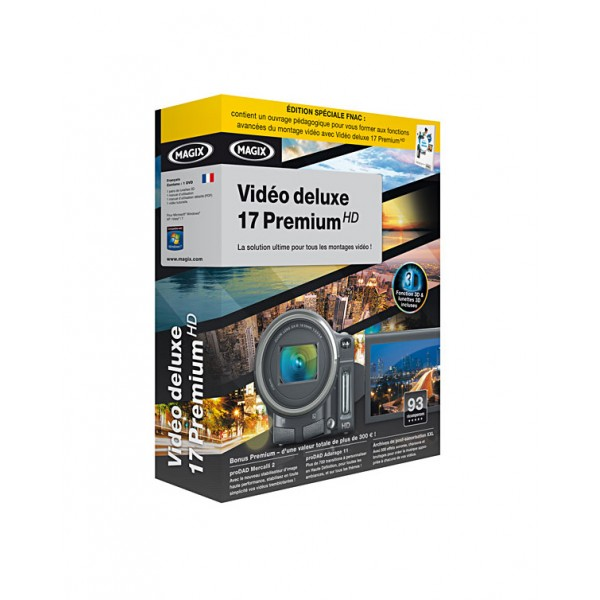 MAGIX video deluxe 17 premium HD french 4017218709638
