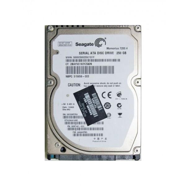 HP hard drive Seagate Momentus 250GB 599665-001