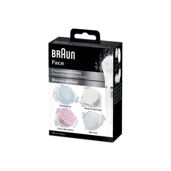 BRAUN Silk SE80-M Brush Set (4 pieces) 80MFACE