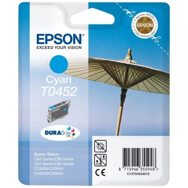 EPSON Ink cartrige T0452 Parasol 8ml cy C13T04524010