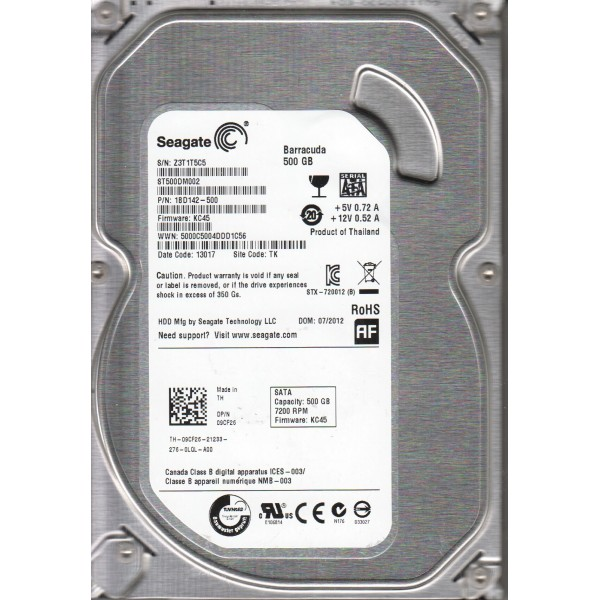 SEAGATE Desktop HDD 500GB 1BD142-500