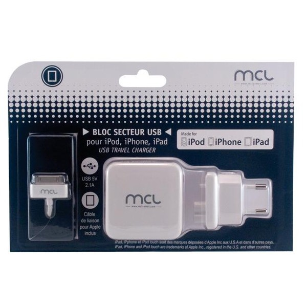 MCL SAMAR USB travel charger PS-5DC/MFIUSBCZ