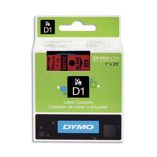 DYMO Ribbon D1 24MMX7M Black and Red S0720970