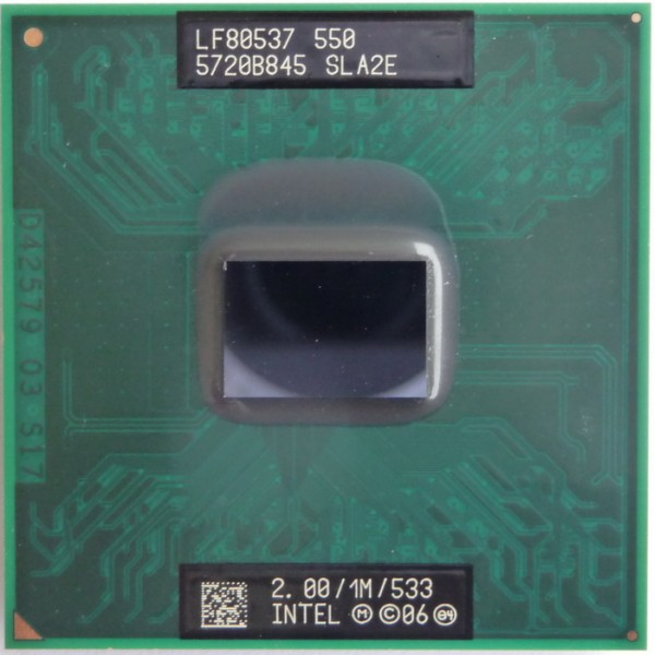 intel processor celeron M550 SLA2E