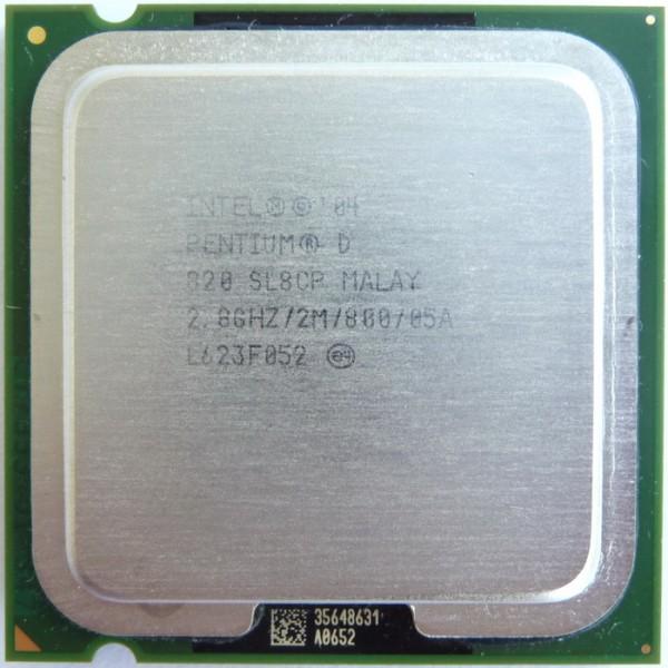 intel Pentium D Processor 820 SL8CP