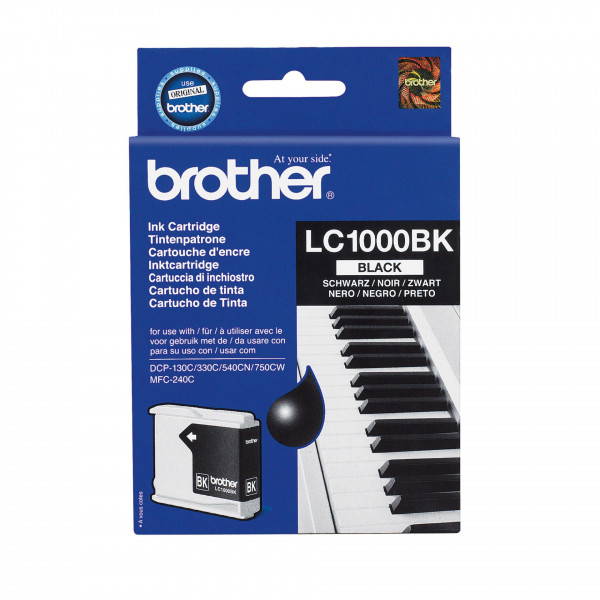 BROTHER Ink Cart/black MFC-210C 410CN blister LC1000BKBP