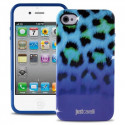 PURO just cavalli iPhone 4/4S macro leopard cover Blue JCIPC4MACROLBLUE