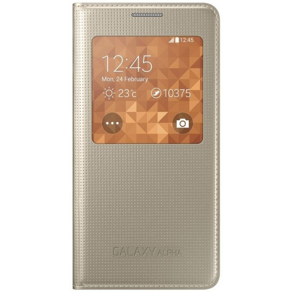 SAMSUNG Galaxy Alpha S-View Cover gold EF-CG850BF