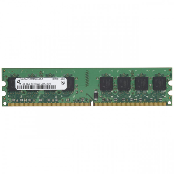 Qimonda 1GB PC2-5300 DDR2-667MHZ non-ECC Unbuffered CL5 240-PIN DIMM Dual Rank Memory Module HYS64T128020HU-3S-B