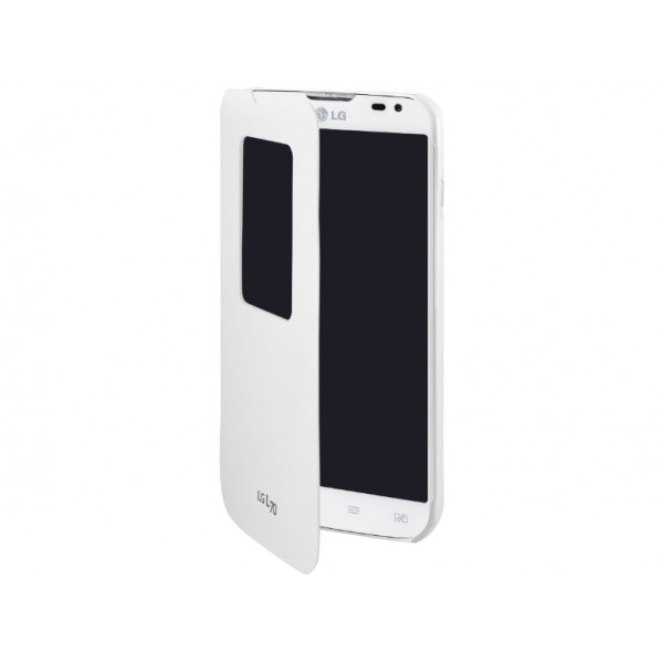 LG L70 Quick Window Folio Case White AAA75324802