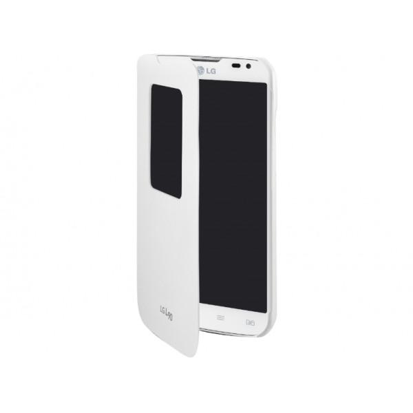 LG L90 Quick Window Folio Case White CCF-380.AGEUWH