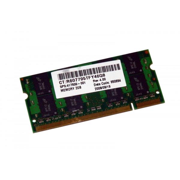 HP sps-mem mod SODIMM 2GB PC2-5300 417506-001