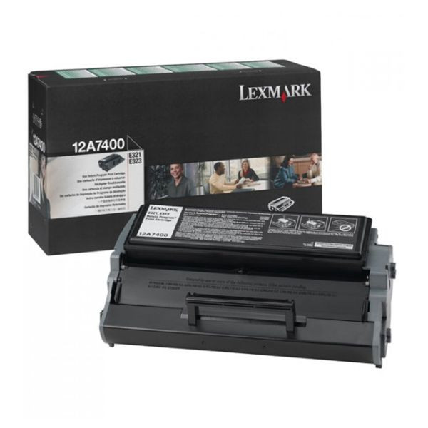 LEXMARK Toner/Black Prebate 3000SH F E321 E323 12A7400