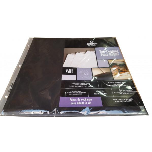 CANSON rech album 30.5X30.5 noires 777492