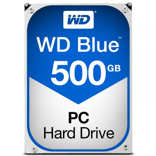 WESTERN DIGITAL WD Blue 500GB Desktop Hard Disk Drive 7200 RPM SATA 6 GB/S 16MB Cache 3.5 Inch WD10EZEX-60M2NA0