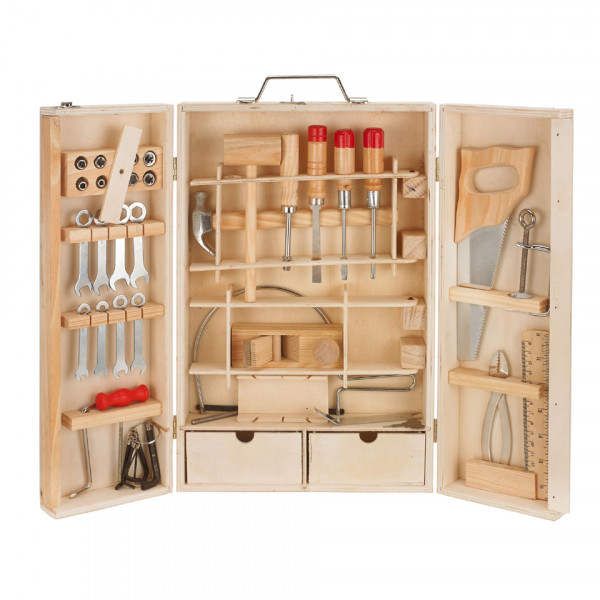 Unbranded Wooden tool box 42-PIECE 4501723