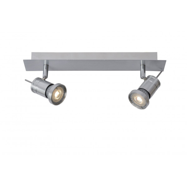 LUCIDE twinny led Ceiling spot LED Dimb GU10 2X4,5W 3000K Matt chrome 17990/10/12