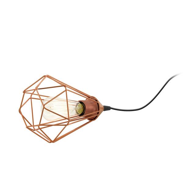 EGLO Vintage Tarbes Table Lamp Wire Lamp 1 Light Ø175MM Black Copper Color