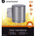 Ranex Eta LED Solar Solar wall lamp 1 light L 90 mm steel GWS-001-DS