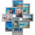 Henzo holiday gallery 10 photos Photo frame Photo size 4 x 10 x 15 6X15X10CM Gray 81.213.15