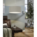 EGLO Pasteri Hanglamp 1 Light ø530 mm Nickel-Mat White Copper