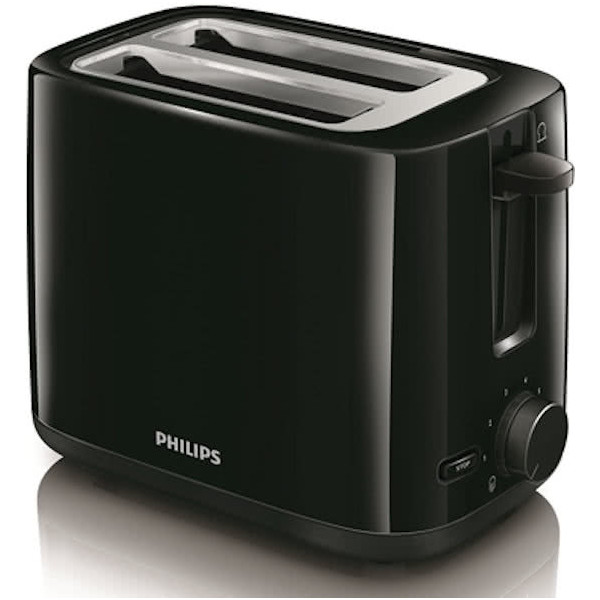 PHILIPS Daily Toaster Black HD2595/90
