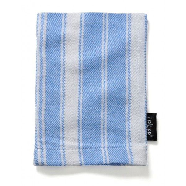 KipKep Blenker Hydrophilic Washcloth-blue with white stripe