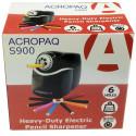 ACROPAQ S900-HEAVY duty Electric Pencil Sharpener/pencil SHARPER-6 holes 41010