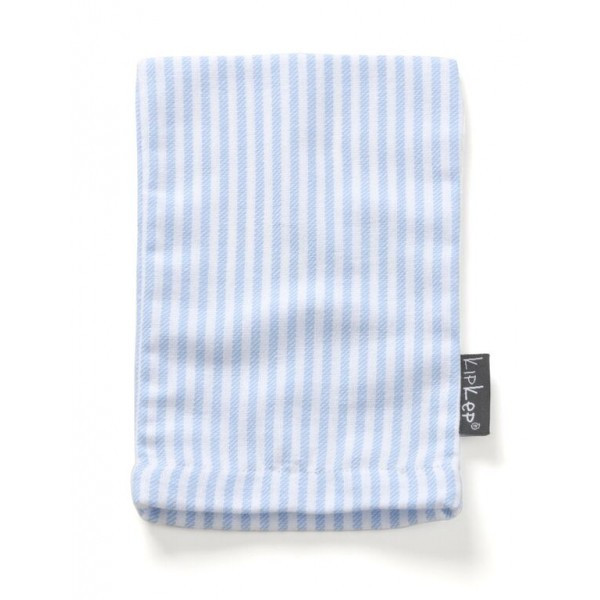 KipKep Blenker Hydrophilic Washcloth-light blue striped