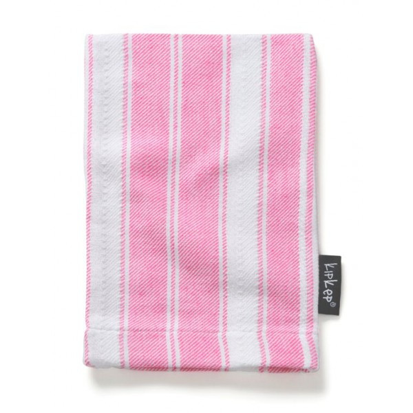 KipKep Blenker Hydrophilic Washcloth-pink with white stripe
