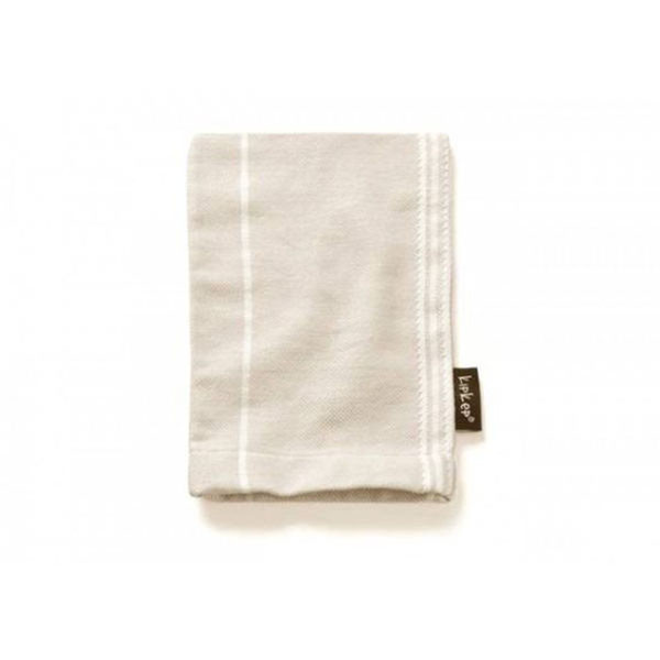 KipKep Blenker Hydrophilic Washcloth-sand with white stripe
