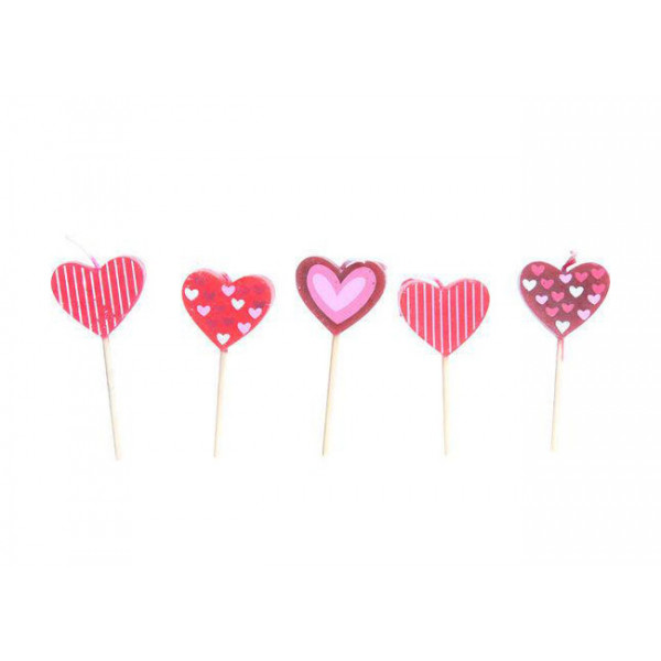 Cosy and Trendy for kids Mini Candle love SET-6 (2 x 3 assorted)-Ø 0.5-CM-8 cm 501206