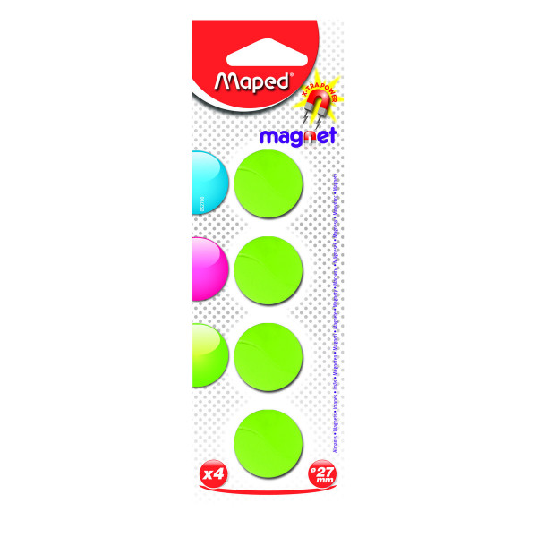 Maped Magneten rond 27 mm - groen x 4 M052700-GR