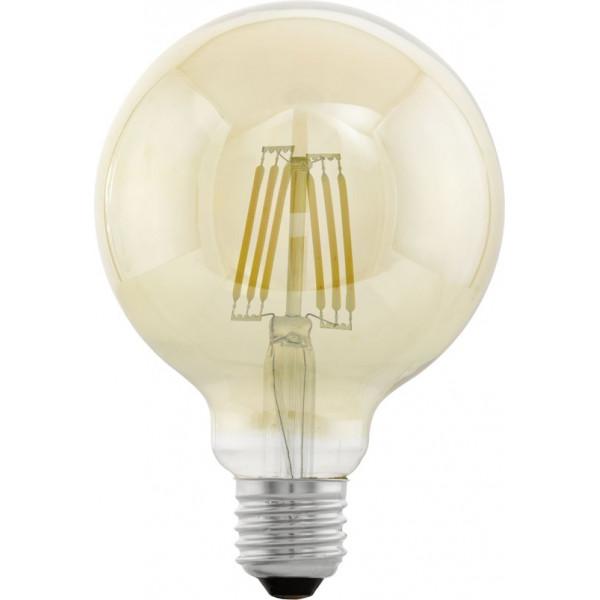 EGLO Vintage LED carbon filament lamp E27 4W ø95