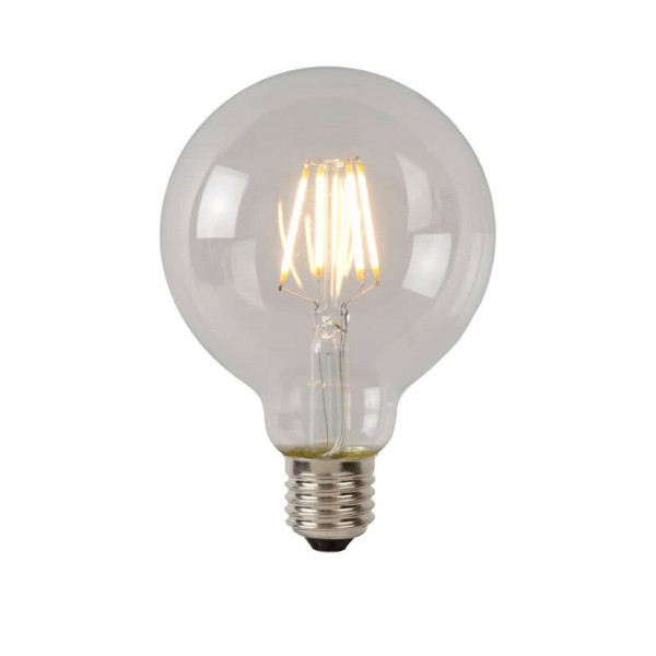 LUCIDE LED bulb Filament lamp Ø 9.5 cm LED Dimming 1X5W 2700K Transparent