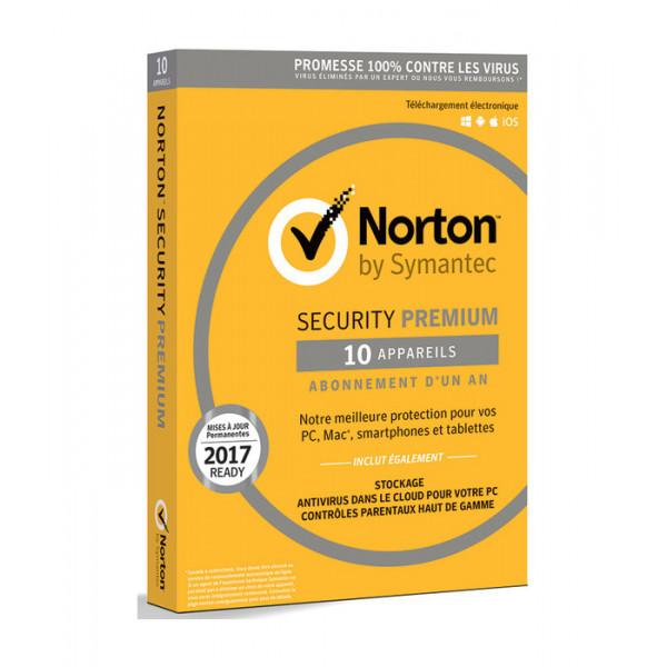 SYMANTEC Norton Security Premium V 3.0 10-apparaten FR 1 jaar 21355468