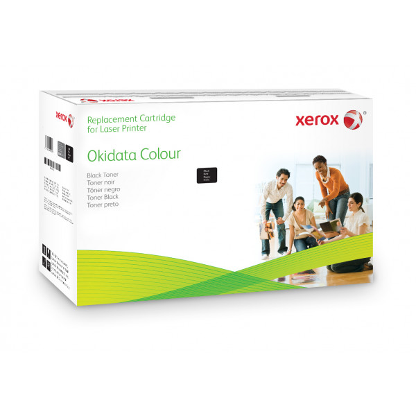 XEROX Black toner cartridge to Oki 44917602 006R03173