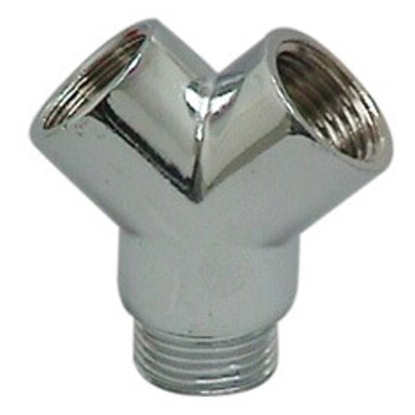Plieger Chrome Y-piece for 2 faucets on 1